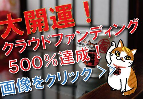 クラウドファンディング1週間で509%達成!!